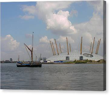 On The Thames Canvas Print