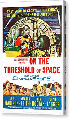 1950s Poster Art Canvas Print - On The Threshold Of Space, Us Poster by Everett