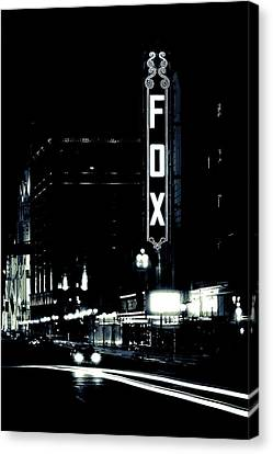 On The Town Canvas Print by Scott Rackers