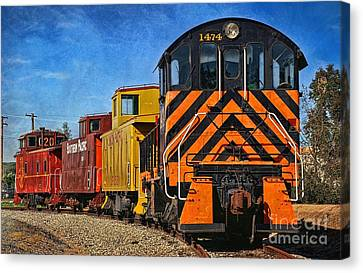 On The Tracks Canvas Print by Peggy Hughes