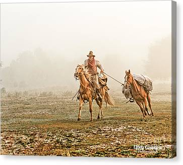Canvas Print featuring the photograph On The Trail by Linda Constant