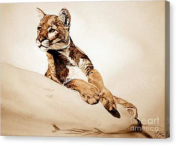 On The Watch Canvas Print by Audrey Van Tassell