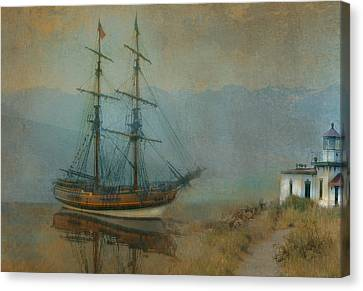 On The Water Canvas Print by Jeff Burgess