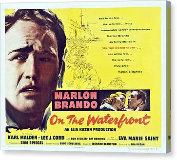 On The Waterfront, Left Marlon Brando Canvas Print by Everett