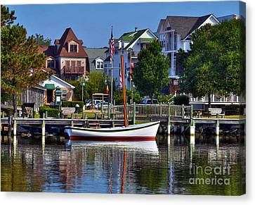 On The Waterfront Canvas Print by Mel Steinhauer