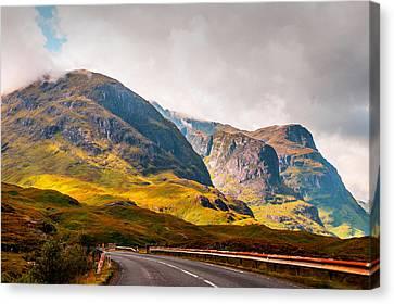 On The Way To Glencoe. Scotland Canvas Print by Jenny Rainbow