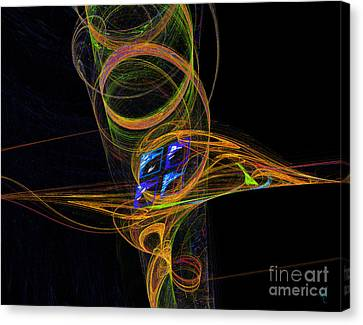 Canvas Print featuring the digital art On The Way To Oz by Victoria Harrington