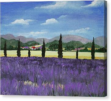 On The Way To Roussillon Canvas Print