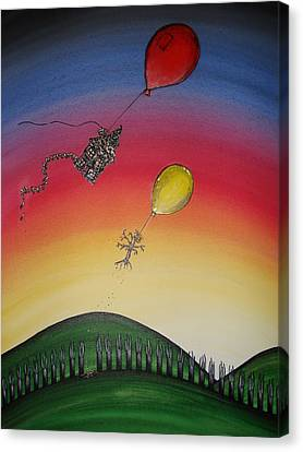 On The Way With Friends Canvas Print