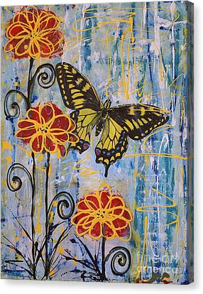 Canvas Print featuring the painting On The Wings Of A Dream by Jane Chesnut