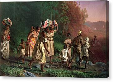 On To Liberty, 1867 Canvas Print by Theodor Kaufmann
