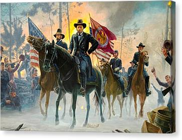 On To Richmond Canvas Print by Unknown