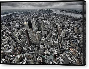 Nyc Rooftop Canvas Print - On Top by Klaus Ratzer