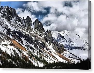 On Top Of The Rockies Canvas Print by Rebecca Adams