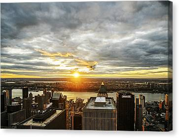Canvas Print featuring the photograph On Top Of The World  by Anthony Fields