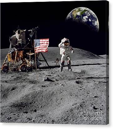Armstrong Canvas Print - On Top Of The World by Jon Neidert
