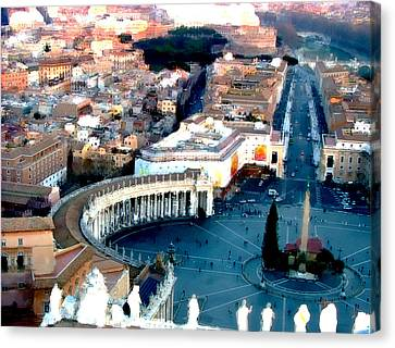 Canvas Print featuring the digital art On Top Of Vatican 1 by Brian Reaves