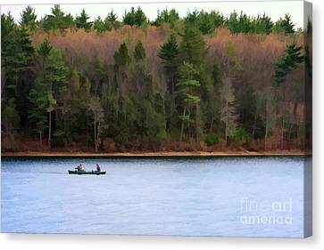 On Walden Pond Canvas Print by Jayne Carney