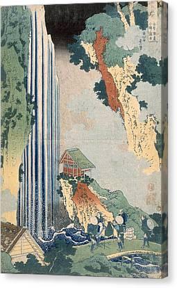 Ona Waterfall On The Kisokaido, 1827 Canvas Print by Katsushika Hokusai