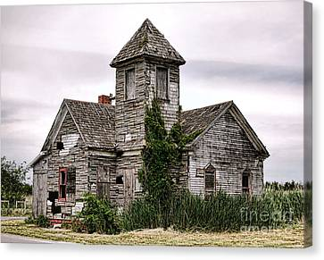 Asbestos Canvas Print - Once A Church by Olivier Le Queinec