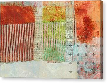Once Again Abstract Art Canvas Print by Ann Powell
