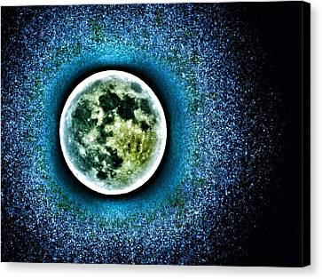 Once In A Blue Moon Canvas Print by Marianna Mills