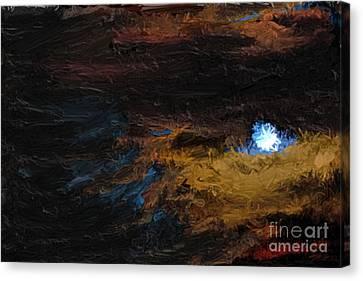 Once In A Blue Moon Canvas Print by Nancy TeWinkel Lauren