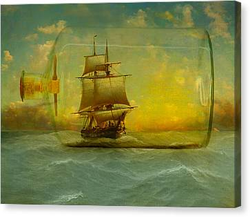 Seafarer Canvas Print - Once In A Bottle by Jeff Burgess