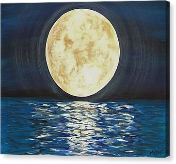 Once In A Very Blue Moon Canvas Print by Cindy Micklos