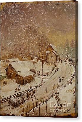 Once In Azuga Canvas Print by Sorin Apostolescu