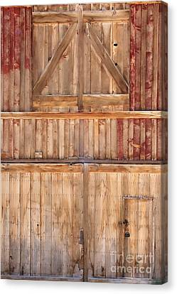 Once Red Doors Canvas Print by Margie Hurwich