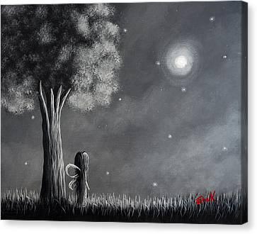 Once Upon A Dreamy Night Original Fairy Art Canvas Print by Shawna Erback