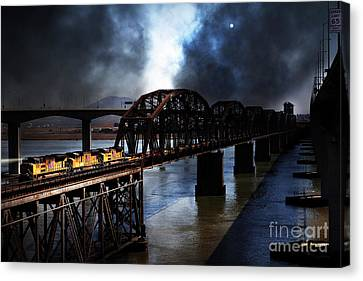 Canvas Print featuring the photograph Once Upon A Time In The Story Book Town Of Benicia California - 5d18849 by Wingsdomain Art and Photography