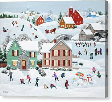 Once Upon A Winter Canvas Print by Wilfrido Limvalencia