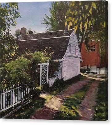 Ridgewood Canvas Print - Onderdonk House  Garden by Victor SOTO