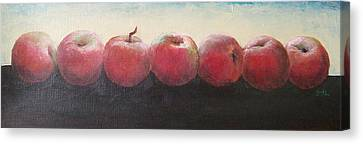 Canvas Print featuring the painting One A Day by Jane  See