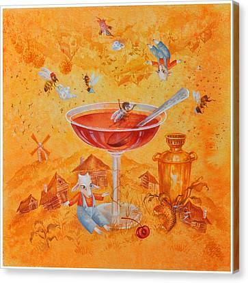 Jerusalem Canvas Print - One Can Live Without Jam by Nekoda  Singer