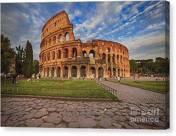 One Day In Rome Canvas Print