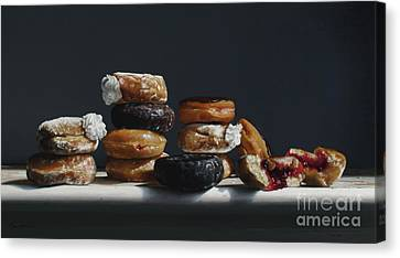 One Dozen Donuts Canvas Print by Larry Preston