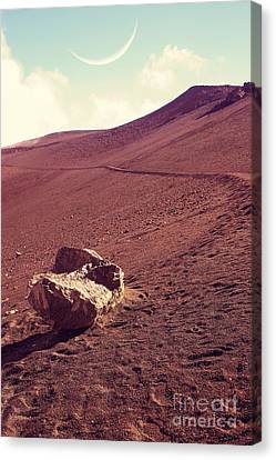 One Fine Day On The Red Planet Canvas Print by Edward Fielding