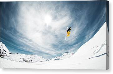 Downhill Canvas Print - One Fine Method Grab... by Eric Verbiest