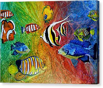 One Fish Two Fish Canvas Print by Liz Borkhuis