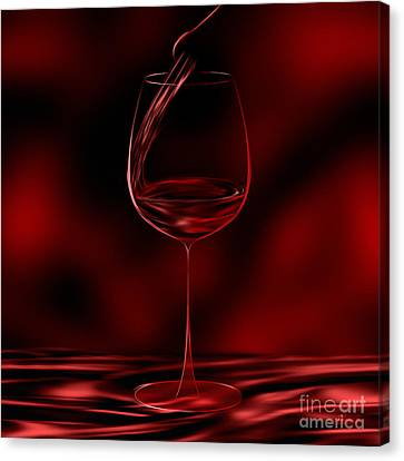 One Glass Red Canvas Print