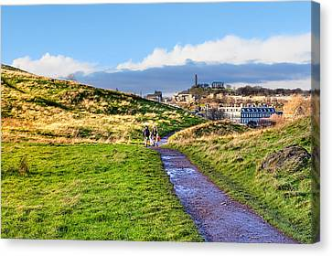 One Golden Day In Edinburgh's Holyrood Park Canvas Print by Mark E Tisdale