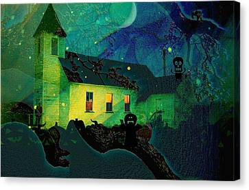 One Hallowed Evening Canvas Print by Shirley Sirois