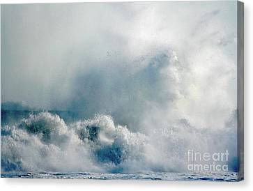 One Heck Of A Wave  Canvas Print