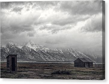 One Hundred Feet To The Out House Canvas Print by Paul W Sharpe Aka Wizard of Wonders
