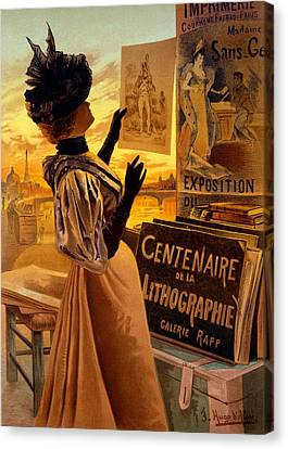 One Hundred Years Of Lithography Canvas Print by Hugo d' Alesi
