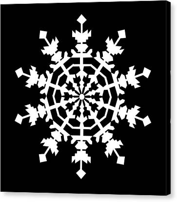 One Ice Crystal Inspired By An Ice Crystal Seen In An Electron Microscope Canvas Print by Asbjorn Lonvig