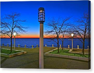Marvelous View Canvas Print - One If By Land Two If By Sea by Frozen in Time Fine Art Photography